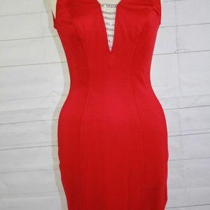 Tadashi Shoji Red Sleeveless Bodycon Dress